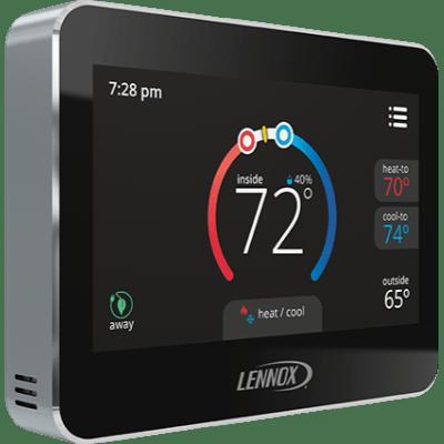 Lennox ComfortSense 7500 thermostat.