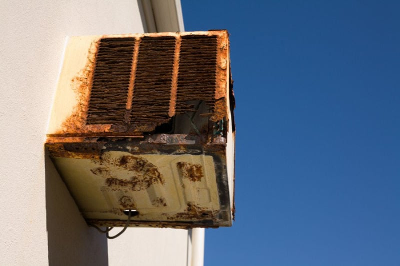 Old and Rusted AC Unit