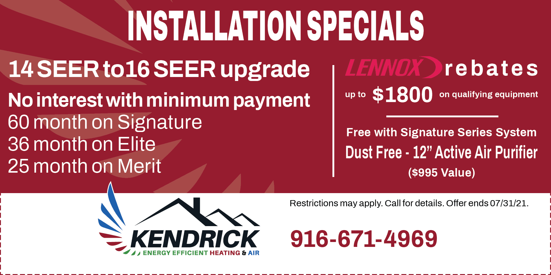 Kendrick special offers